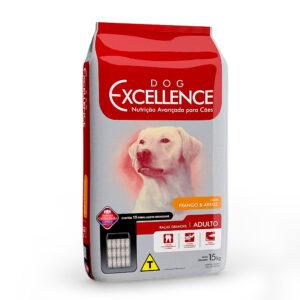 Ração Dog Excellence Frango e Arroz para Cães Adultos Raças Grandes - 15 Kg
